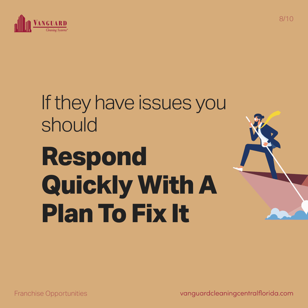 If they have issues you should respond quickly with a plan to fix it
