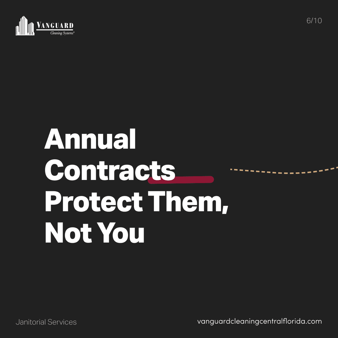 Annual contracts protect them, Not You