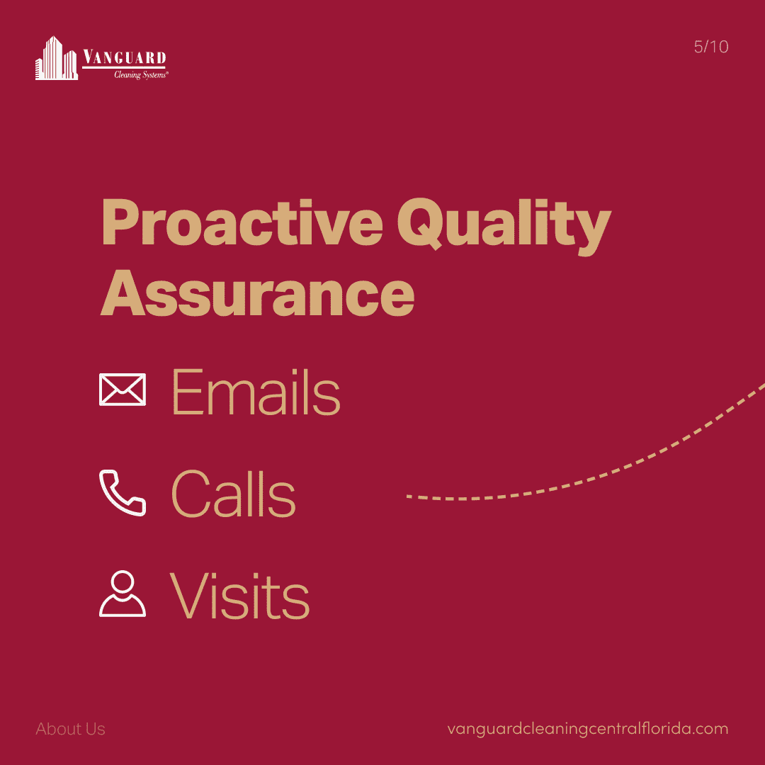 Proactive quality assurance emails, calls, and visits