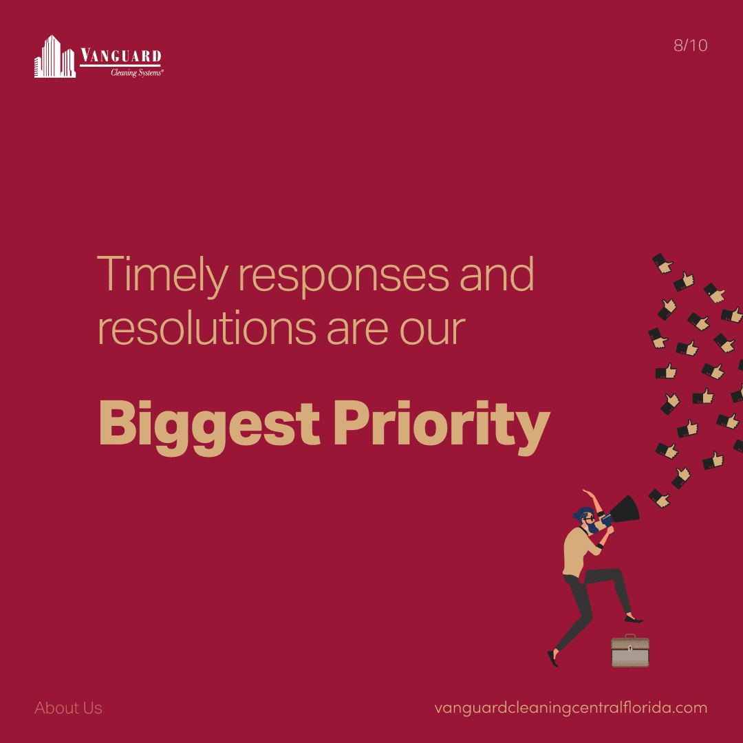 Timely responses and resolution are our biggest priority