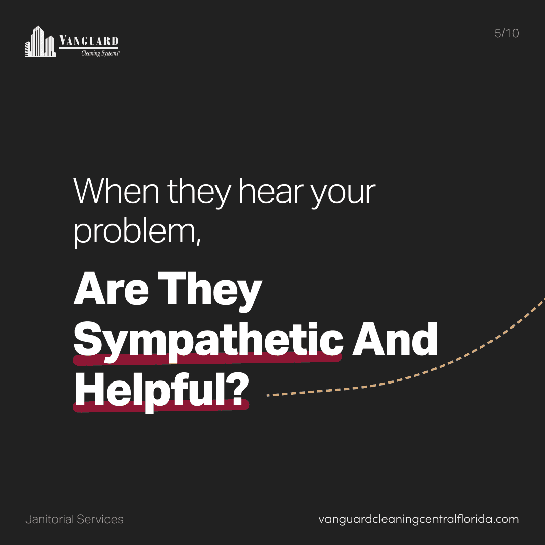 When they hear your problem, are they sympathetic?