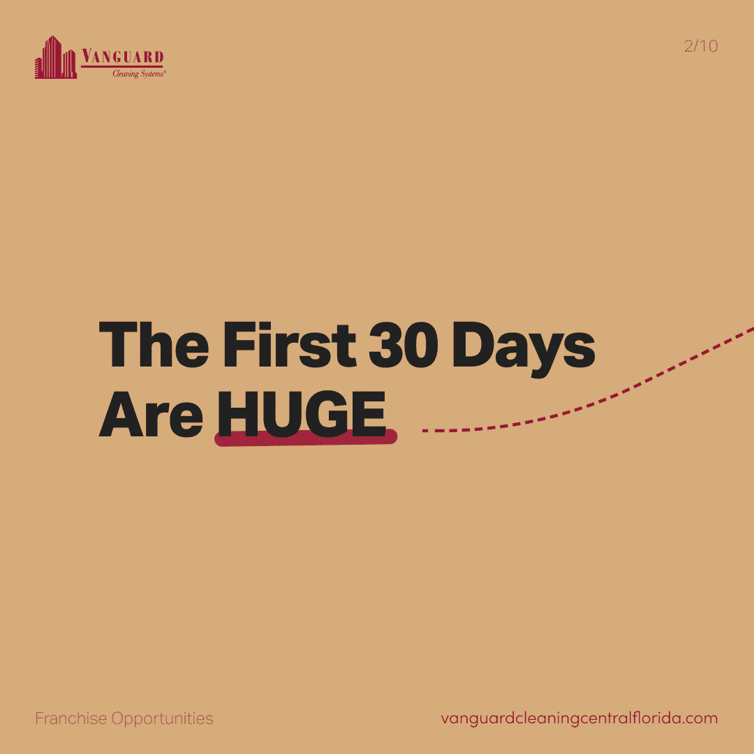 The first 30 days are huge