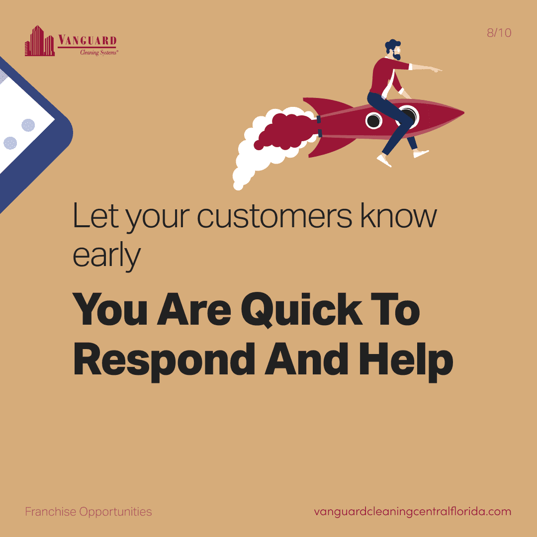 Let your customers know early, you are quick to respond and help