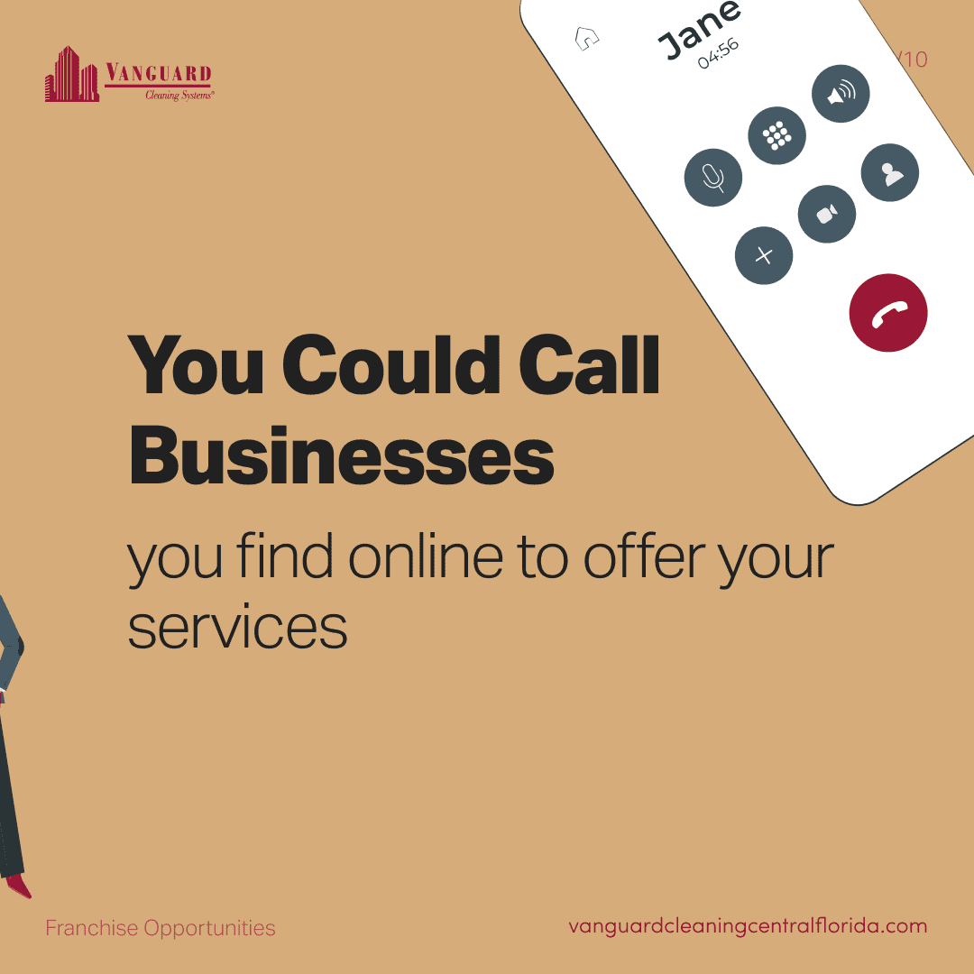 You could call businesses your find online to offer your services