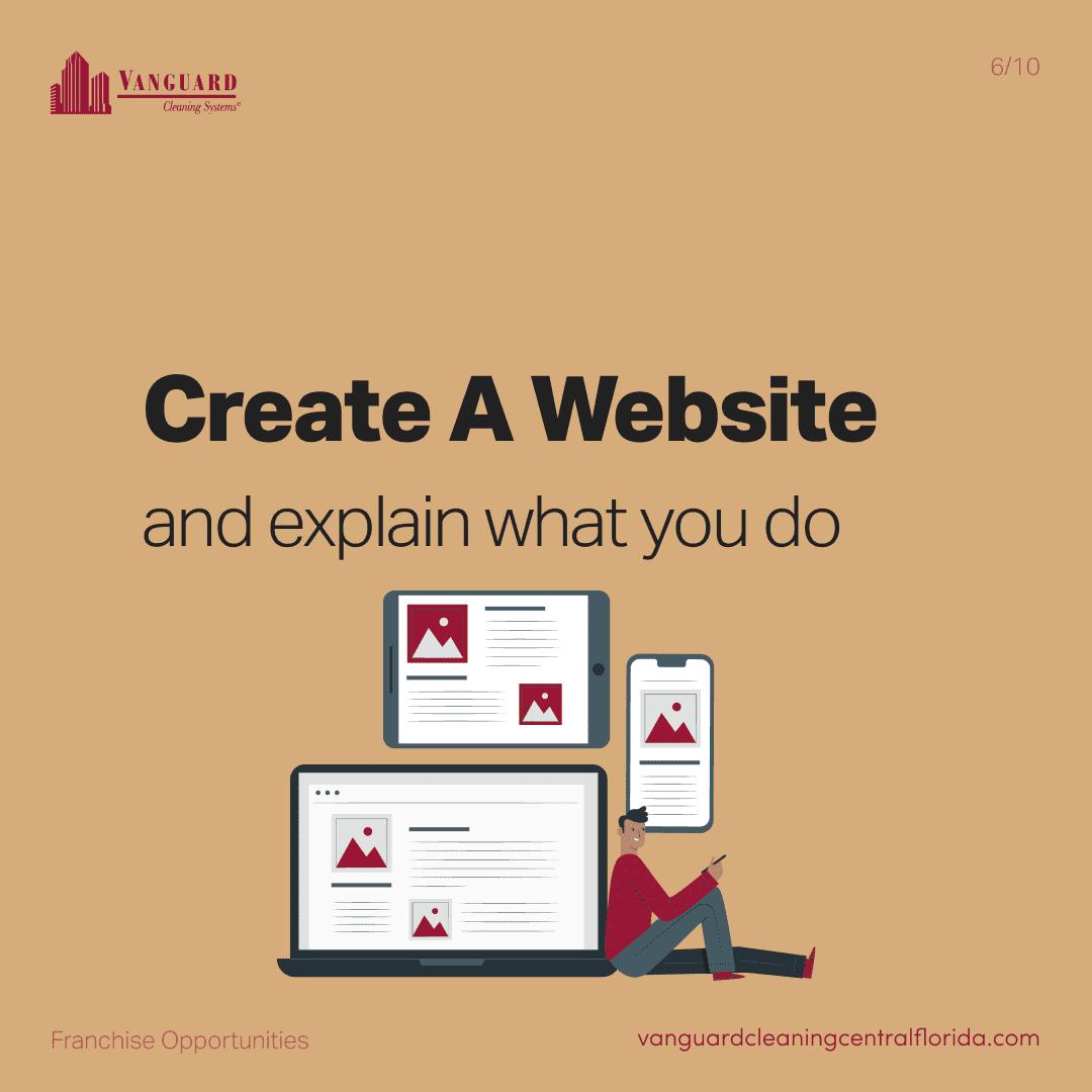 Create a website and explain what you do