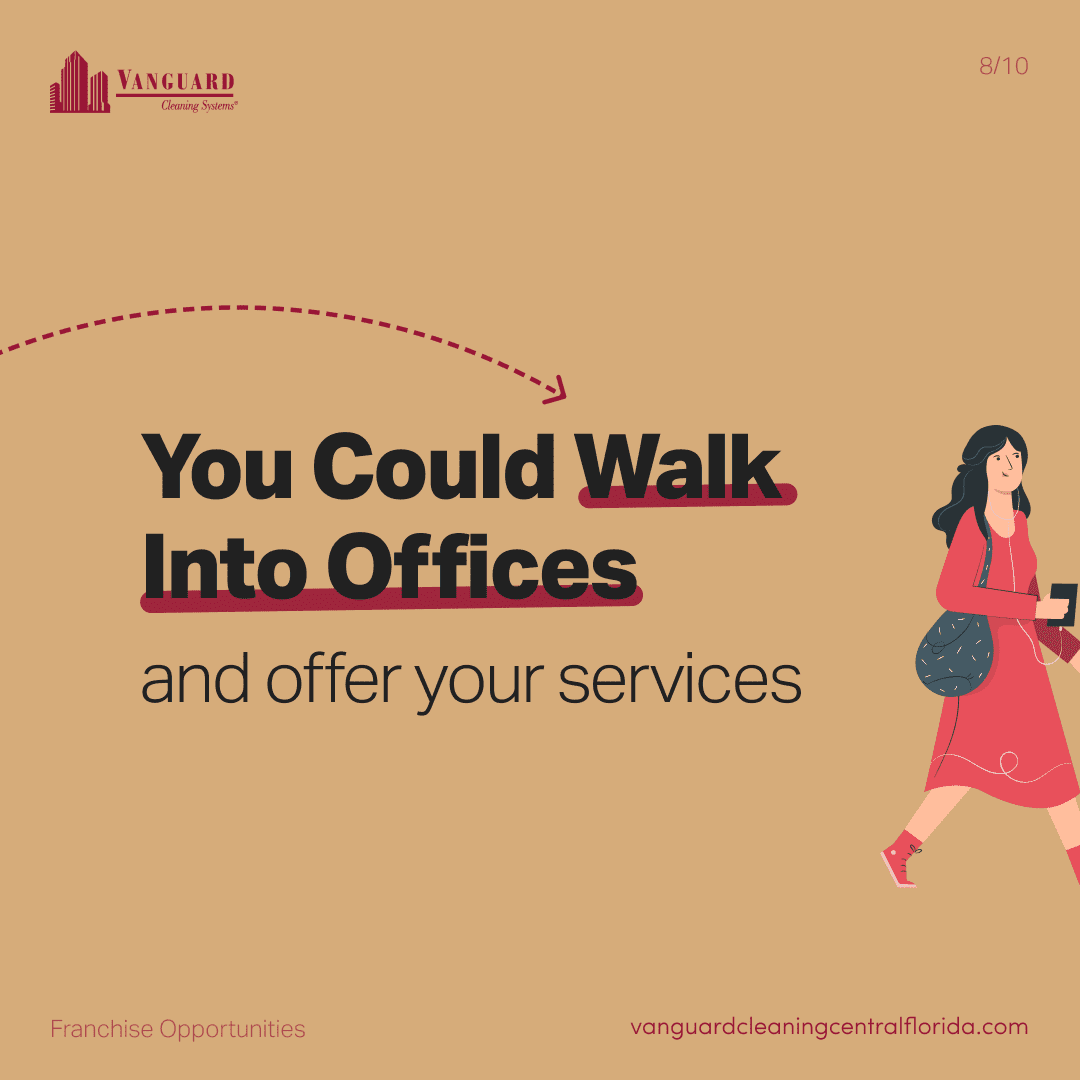You walk into offices and offer your services