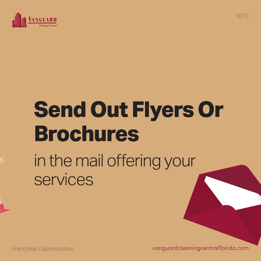Send out flyers or brochures in the mail offering your services