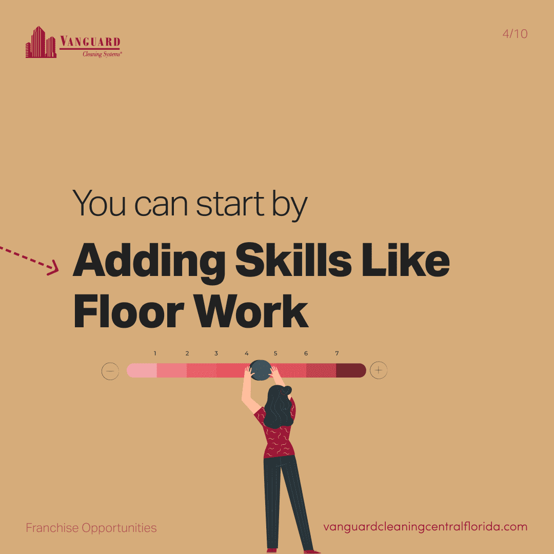 You can start by adding skills like floor work