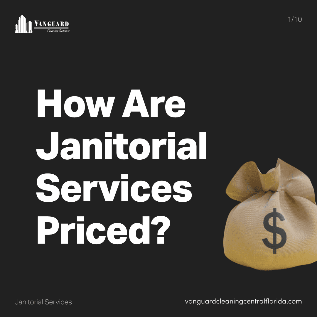 How are janitorial cleaning services priced?