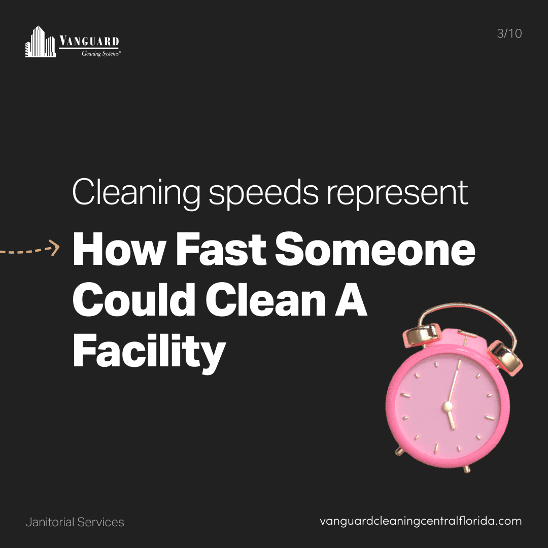 Cleaning speeds represent how fast someone could clean a facility