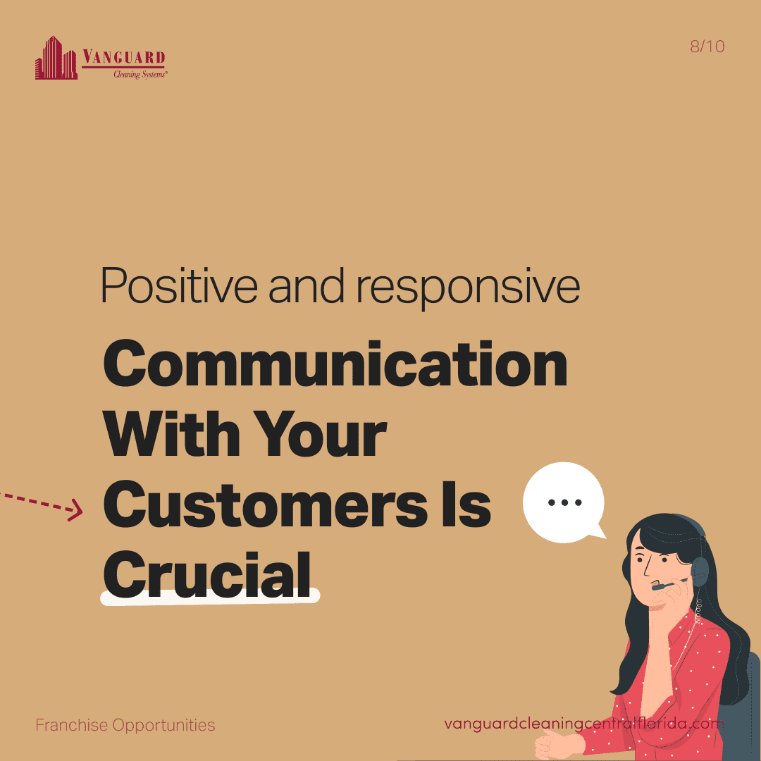 Positive and responsive communication with your customers is crucial