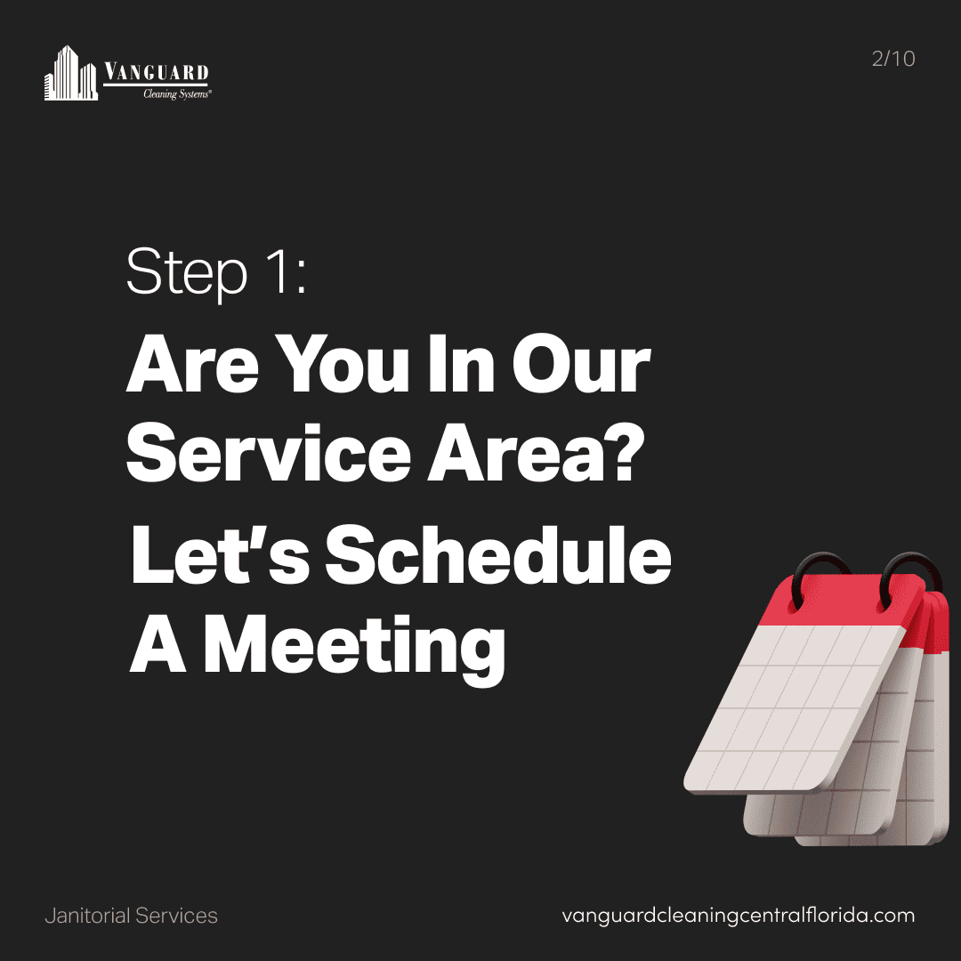 Step 1: are you in our service area? Lets schedule a meeting