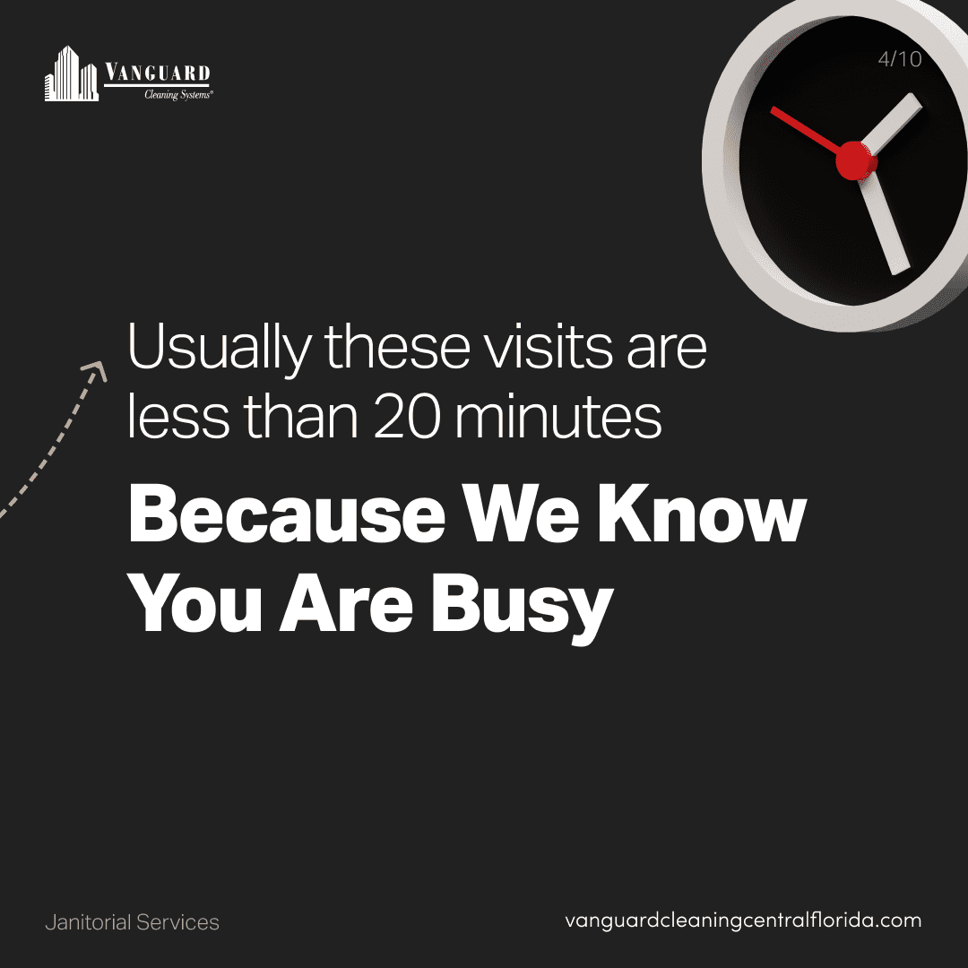 Usually these visits are less than 20 minutes because we know you're busy