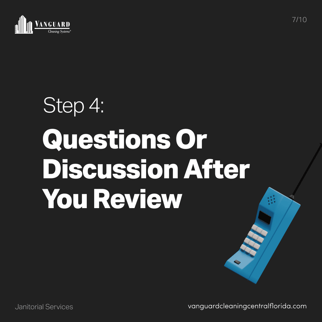 Step 4: Question or discussion after your review