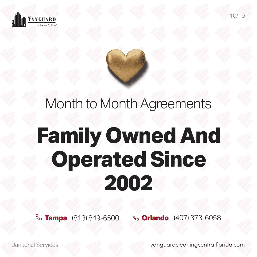 Month to month agreements and family owned and operated since 2002