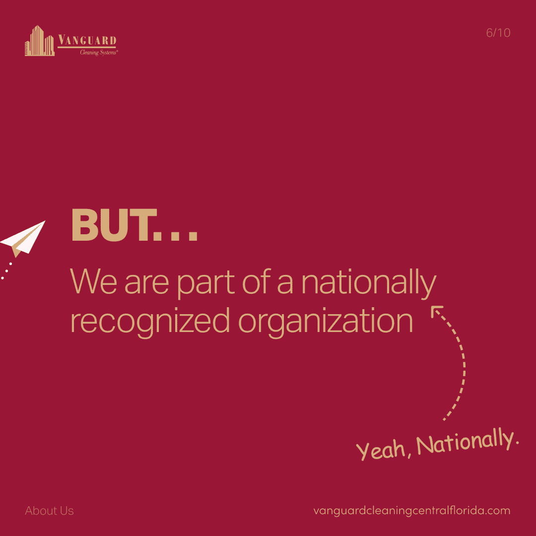 But, we are part of a nationally recognized organization