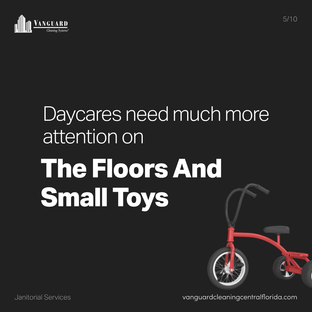 Daycares need much more attention on the floors and small toys