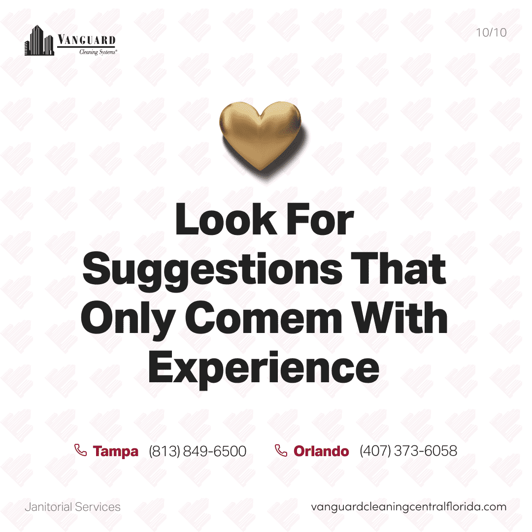 Look for suggestions that only come with experience