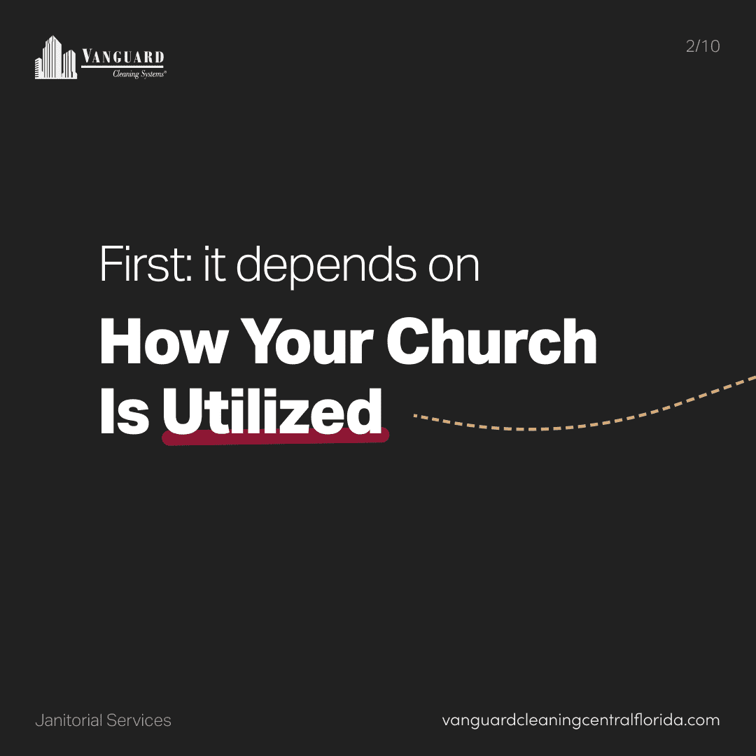 First: it depends on how your church is utilized