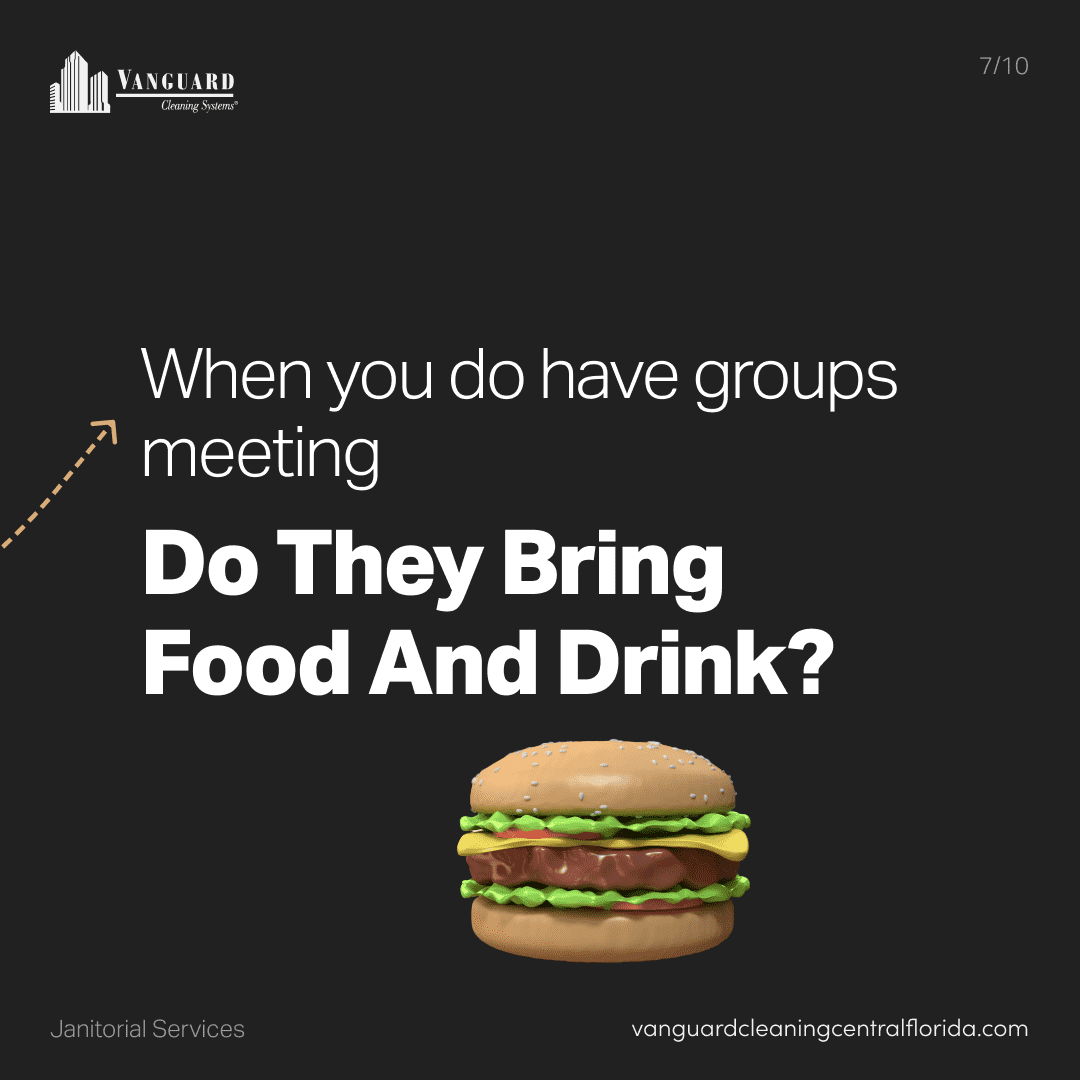 When you do have groups meeting do they bring food and drink?